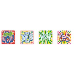 Stickers Foil - Wow Yes - Pk 72 FS233