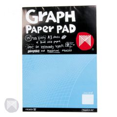Graph Paper 5mm A3 Pad 25 pages Micador 9313306430350