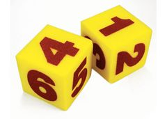 Dice 125mm Set of 2 Numbers Soft Foam 2770000046787