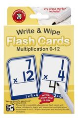 Write & Wipe Flash Cards - Multiplication 0 - 12 9314289033828
