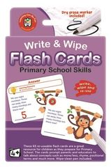 Write & Wipe Flash Cards Primary School Skills Level 1 5-6 yr olds  9314289010829