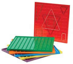 Geoboards 23cm 6pcs,6Col 12 Elastic Bands 4710953440964