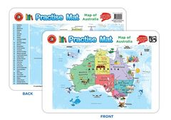 Practise Mat - Map Of Australia 9314289032432