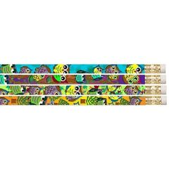 Pencils - Owls And Frogs   - Pk 10 MP015