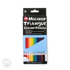 Colour Pencils Triangular Pk 12 Micador 9313306071300