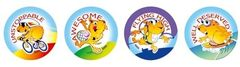 Stickers - Active Guinea Pigs - Pk 96 MS027