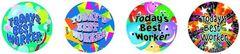 Stickers - Todays Best Worker - Pk 96 MS093