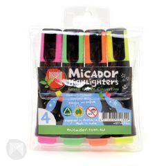 Highlighter Pk 4 Micador Eco [Yellow Pink Orange Green] 9313306051890