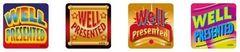 Stickers Metallic - Well Presented - Pk 96 MT302