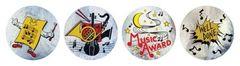 Stickers Metallic - Music - Pk 96 MT312