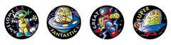 Stickers Metallic - Invaders - Pk 96 MT315