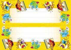 Name Plates Card - Reading Bugs - Pk 35 NP9513