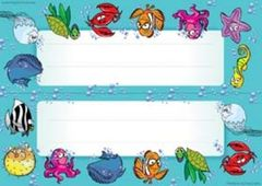 Name Plates Card - Sea Creatures - Pk 35 NP9515