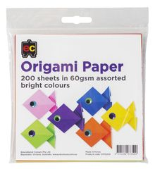 Origami Paper Packet 200 Asst Bright Colours 9314289033590