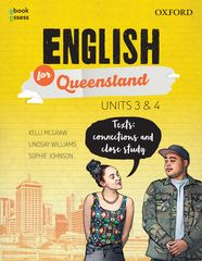 English for Queensland Units 3 & 4 Student book + obook assess