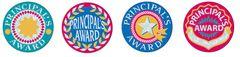Stickers - Principals Award Silver Glitz - Pk 72 PA143
