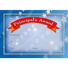 Certificates Card - Principal Banner  - Pk 20 PC331C