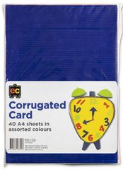 Corrugated Card Asst Colours A4 Packet 40 9314289033453