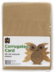 Corrugated Card Natural Sheets A4 Packet 40 9314289033460