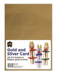 Gold and Silver Card A4 Packet 40 9314289033491