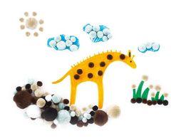 Pom Poms Animals 300pcs Assorted Colours & Sizes 9314289012892