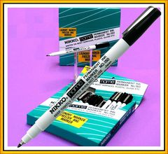 Permanent Marker Nikko 150 Name Black Extra Fine Tip 1.0mm Lines *Each* 4936143040008