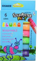 Poster Paint Crayon Sticks Pk 6 Asst Fluro Osmer Washable 9313023060618