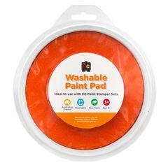 Paint Stamper Pad Orange 15cm Diameter 9314289015541