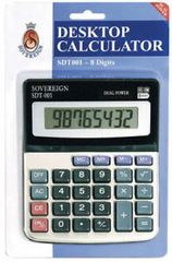 CALCULATOR DESKTOP 8 DIGIT SOVEREIGN DUAL POWER 9319519651704