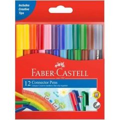 Felt Pens Pk 12 Faber Connector Colour Markers 8997010768995