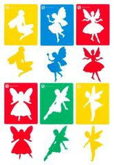 Stencil Fairy Set Of 6 9314289013592