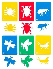 Stencil Insects Set of 6 9314289023720