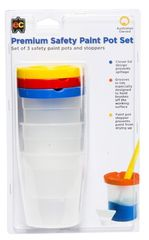Safety Paint Pot Blister Pack 3 Pots & Stoppers  9314289311001