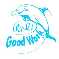Stamp - Good Work - Dolphin ST1242