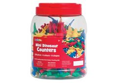 Counters Pack of 128 Dinosaurs In Jar 2770009243576