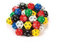 Dice 12 Face Jumbo Numbers 1-12 2770000051477
