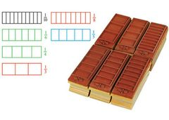 Stamp Fractions Rectangles Set of 6 2770000744195