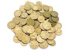 Money Pack of 110 Gold Coins Australian 9337138105033