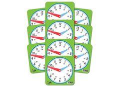 Clock 11 x 11cm 24 Hour Analogue Plastic Ea 9337138100694