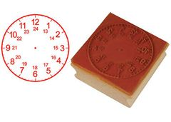 Stamp Clock 50mm 24 Hour Analogue 9337138106092