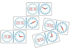 Dominoes Clock Analogue + Words 28 Pce 9337138112161
