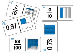 Dominoes Fractions Decimal Equivalent Set B 128 Pce 2770000066426