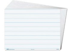 Student Whiteboard Pack of 30 Dotted Thirds Write n Wipe 2770000004039