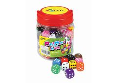 Dice 6 Face Pack of 100 16mm Dots 1-6 In Jar 9337138160711