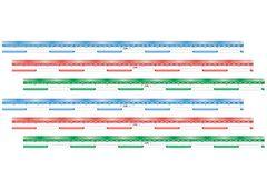 Ruler Metre Pack of 6 Transparent Flexible 9337138161343