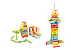 Wooden City Blocks 150 pcs