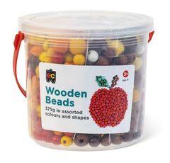 Wooden Beads Jar 575g Asst Cols + Shapes 9314289033699