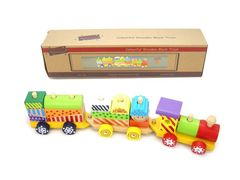 Colourful Wooden Block Train WT177