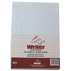 Lined Paper A4 Pk 250 Sheets Year 2 Rule Qld Portrait 9314649041111