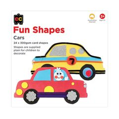Fun Shapes Cars 24pc 225 x 225mm  9314289017330